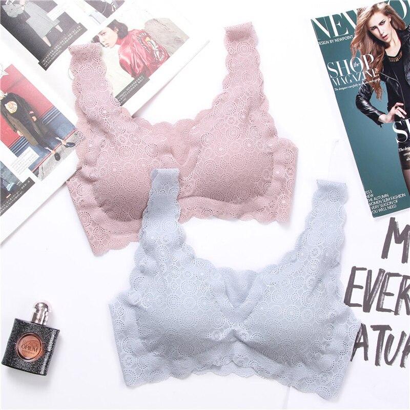 dd9f1f448736 OranriTing nuevo encaje sujetador sin costuras lencería Sexy para mujer  chica dulce ropa interior de ...