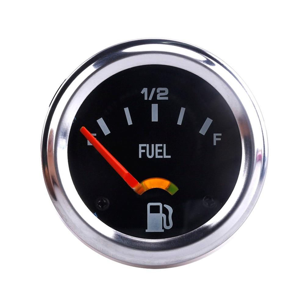 2'' 52mm 12V DC Mechanical Car Fuel Level Gauge Black Oil FG /Car Meter  E-1/2-F TT101086