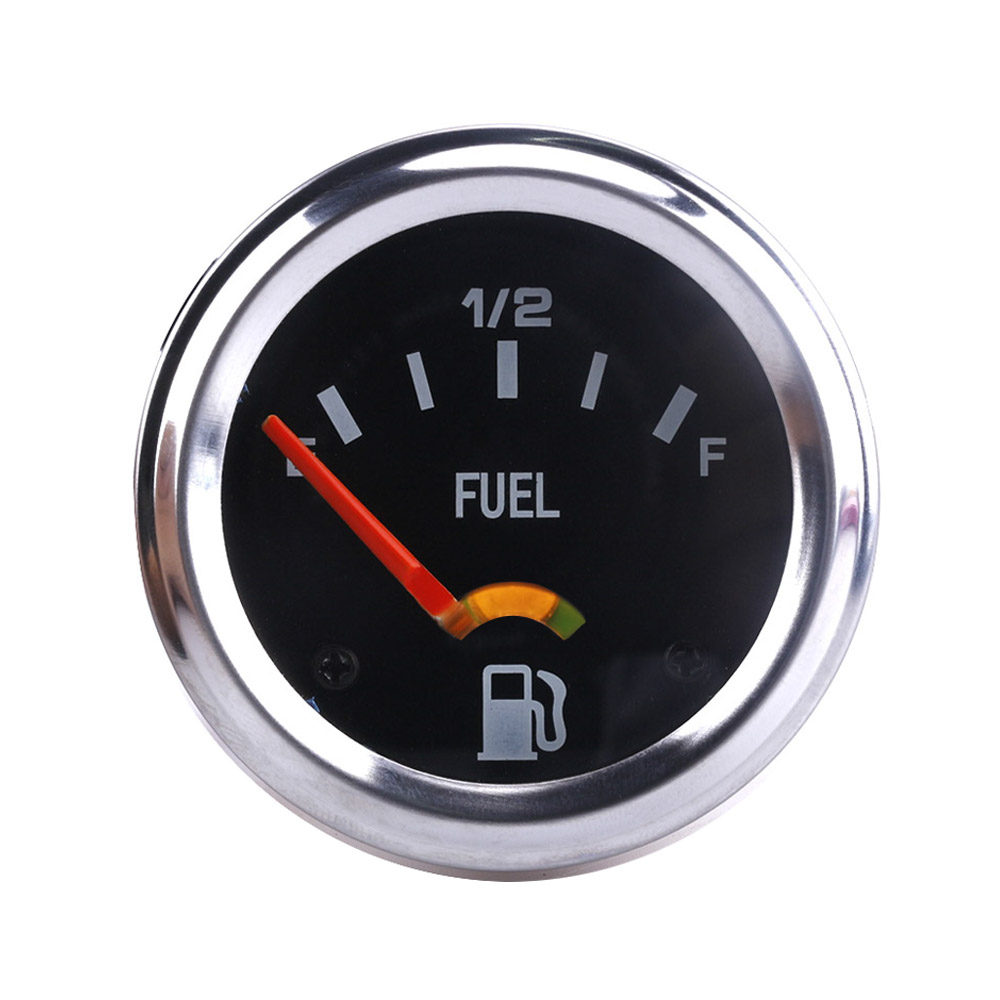 2'' 52mm 12V DC Mechanical Car Fuel Level Gauge Black Oil FG /Car Meter  E-1/2-F TT101086