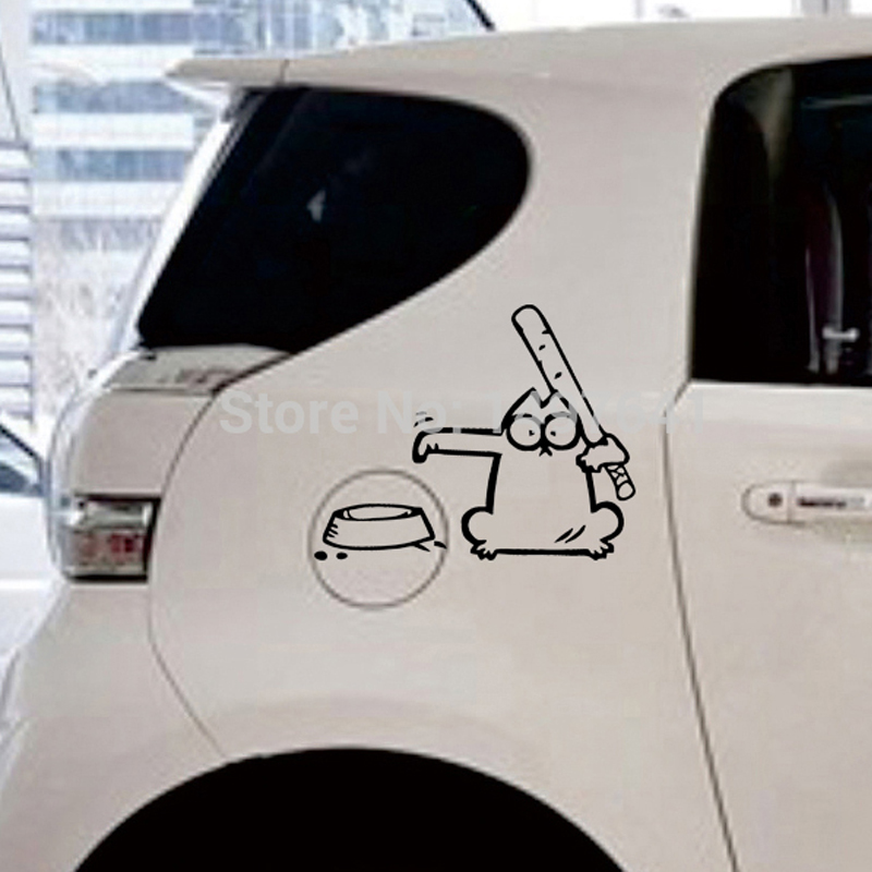 Black Simon S Cat Left Car Decal