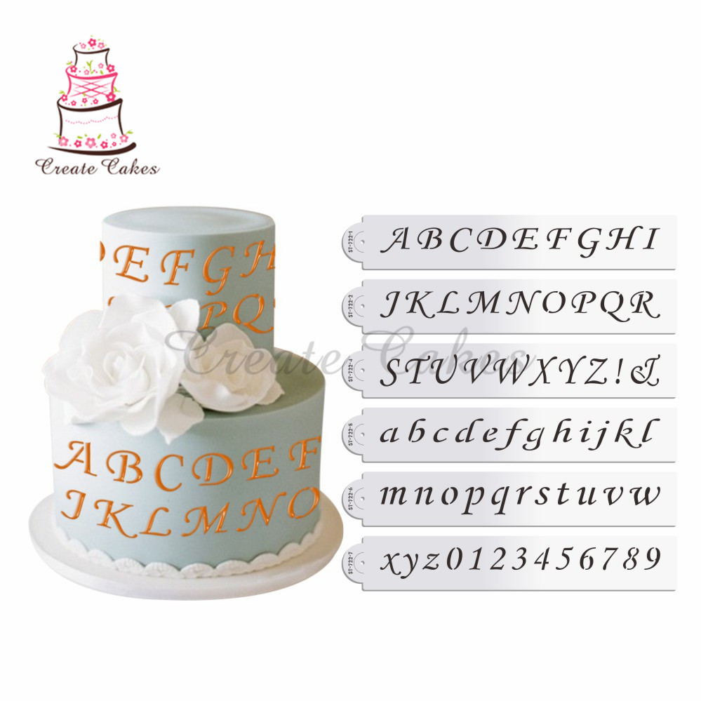 Kitchen,dining & Bar Generous Fondant Cake Alphabet Letter Number 26 English Letter Cookie Molds Printing Symbol Stamp Biscuit Cookie Cutter Fondant Cake Tool