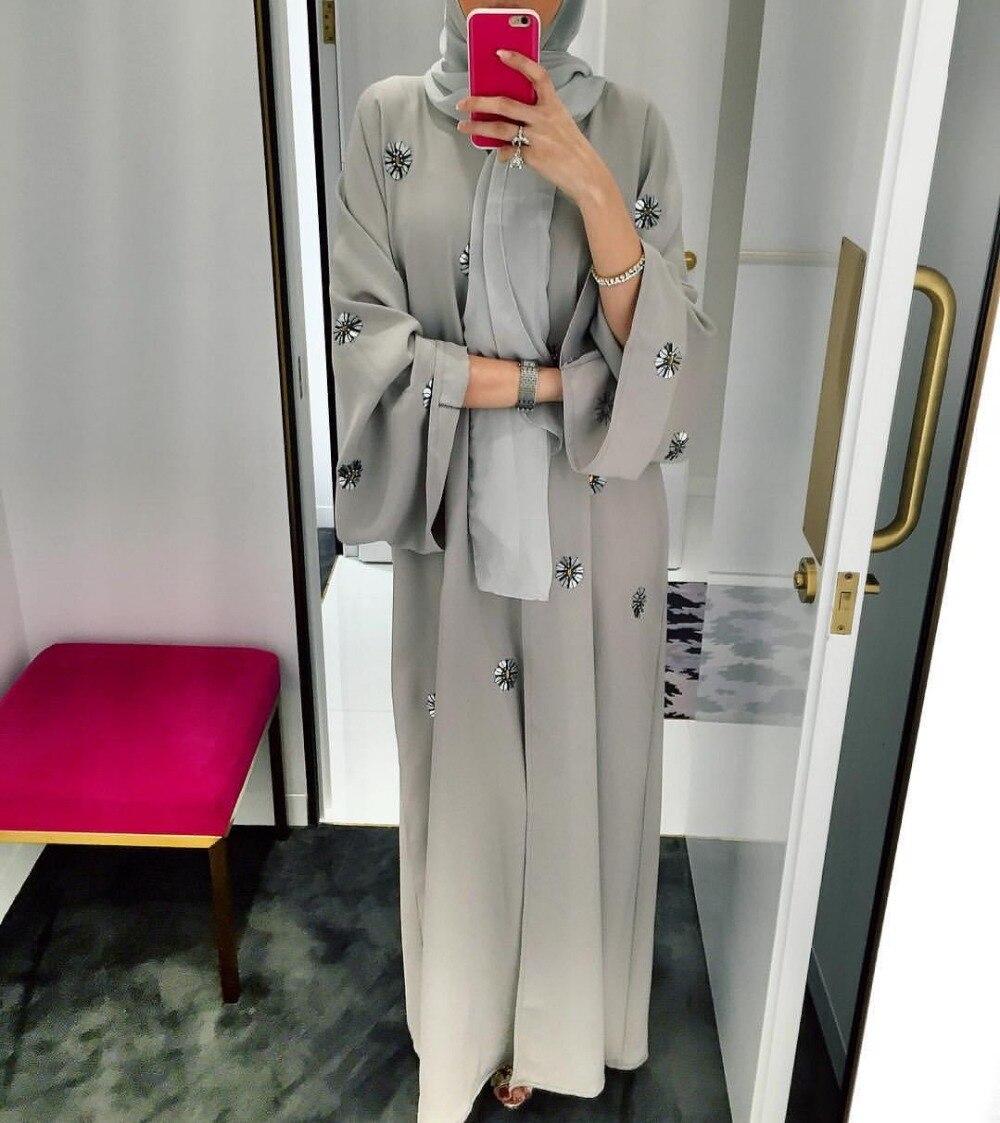 Muslim Women Maxi Dress Plus Size Robe Embroidery Abaya Muslim Women's Abaya
