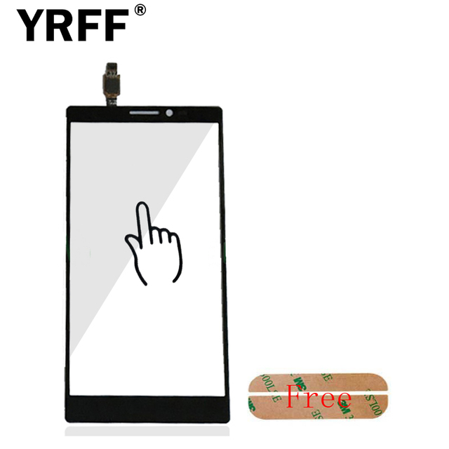 K920 Black For Lenovo Vibe Z2 Pro K920 Touch Screen Digitizer Panel Front Outer Glass Lens Sensor + Adhesive Free Shipping