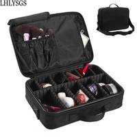 LHLYSGS Brand Cosmetic Cases Women Large Double Layer Professional Makeup Bag For Travel Organizer Tattoos Nail