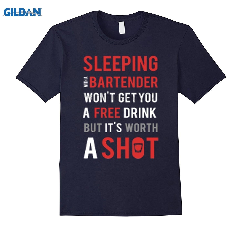 Возьмите спать с бармен стоит выстрел забавные бармен рубашка Солнцезащитные очки женские футболки