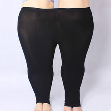 Women Pants Capris Plus-Size Elastic-Waist Skinny High-Strenchy 5XL Modal for Leggings