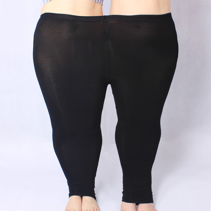 KSDKFAA Women Pants 2018 Plus Size 5XL Skinny Slim Elastic Waist Pencil Pants High Strenchy Modal Capris For Womens Leggings
