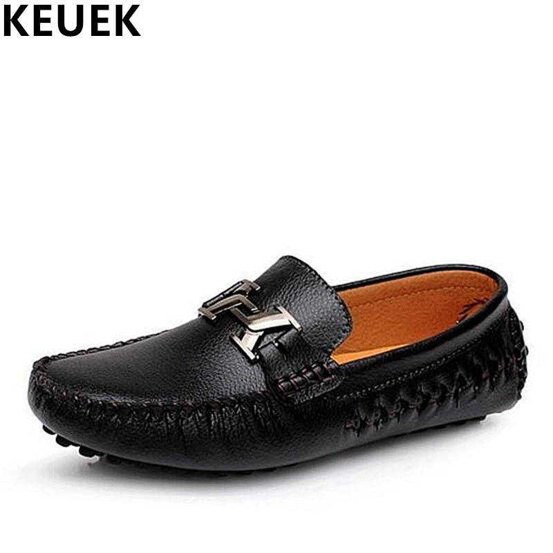 Spring Summer Men Loafers Breathable Genuine leather Boat shoes Slip-On Comfortable Driving shoes Male Flats 3A spring autumn fashion men high top shoes genuine leather breathable casual shoes male loafers youth sneakers flats 3a