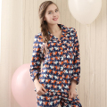 Qianxiu Spring Pajamas for women 100% Cotton Long-sleeve Sleepwear Suit female Plus size Pijama suits