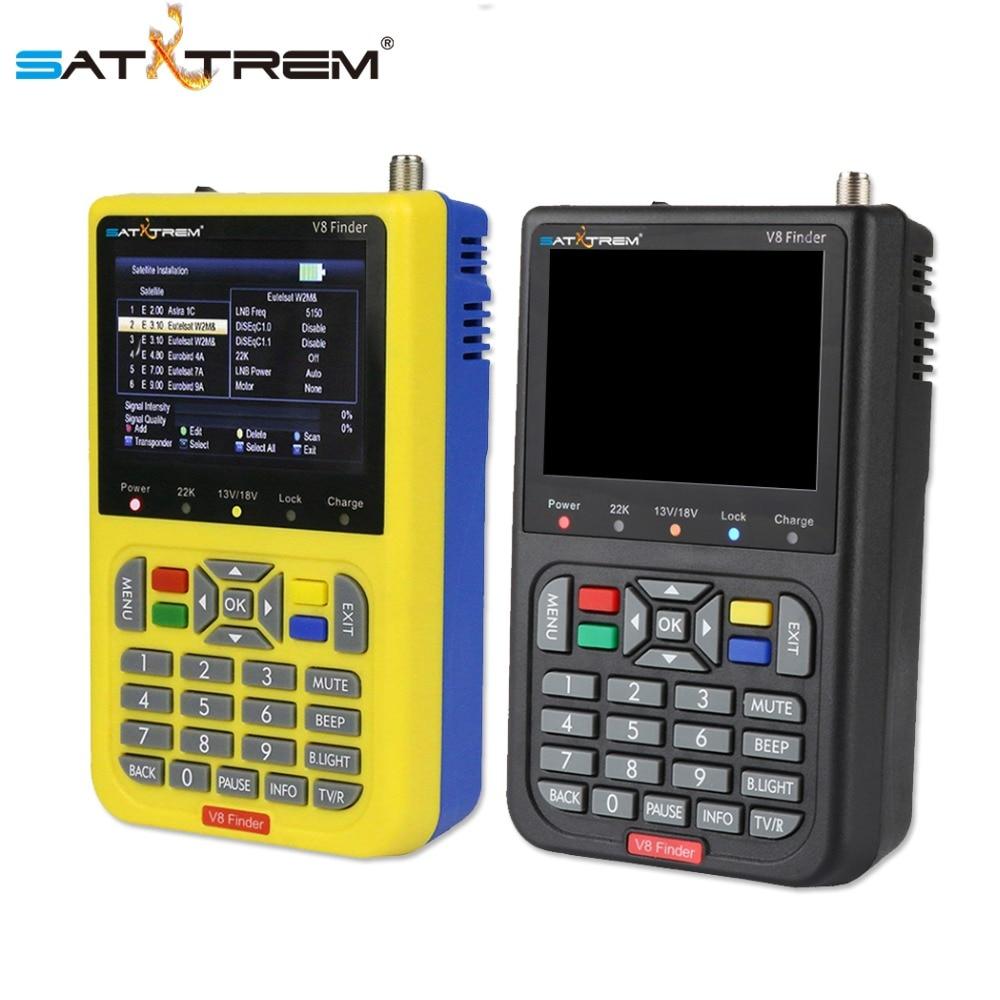 Satxtrem V8 Finder Satellite Finder DVB S2 Receiver Digital Signal Meter HD TV Antenna Outdoor Signal Detector Adjust Sat Dish