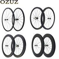 Light weight 24mm 38mm 50mm 88mm depth rim cycling carbon wheels clincher tubular 3k matte 23mm width chinese 700C road wheel