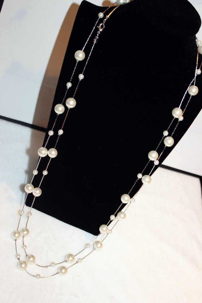 d5f207a1499c ... Collar largo de la joyería de La Perla simulada de las capas dobles  collares de la ...