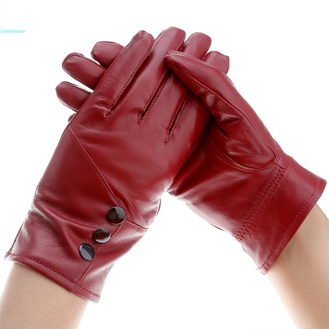 Red leather driving gloves womens - Aliexpress Com Buy Wholesale Driving Warm Winter Leather Gloves Women Mittens Elegant Wine Red Pink Black Brown Fashion Lady Female 34 From Reliable Glove