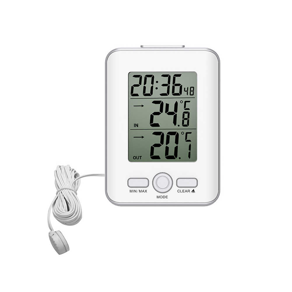 'The Best' Wired Digital Temperature Sensor Probe Thermometer Indoor Outdoor LCD Meter Alarm Snooze Clock 889