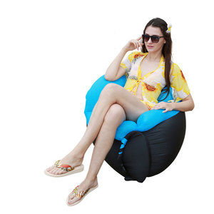Image 2 - Outdoor Furniture Inflatable Camping Chair Beach Chair Sofa For Hiking Picnic And Fishing Rest Folding Air Lounge Sofa Bed