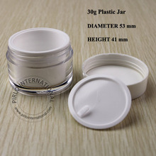 30g Empty Acrylic Cosmetic jars Cream Packaging Plastic Jar and Lid For