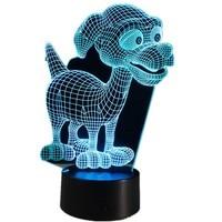 Lovely Puppy 3D LED Lamp Baby Room Cartoon 3D Nightlight Kids Bed LED Lamp Sleeping Night