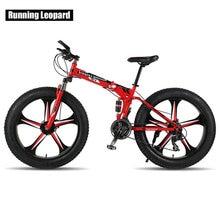 Running Leopard 26 inch 24 speed mountain bike fat bike folding snowmobile one wheel bicycles 4.0 tire bicycle