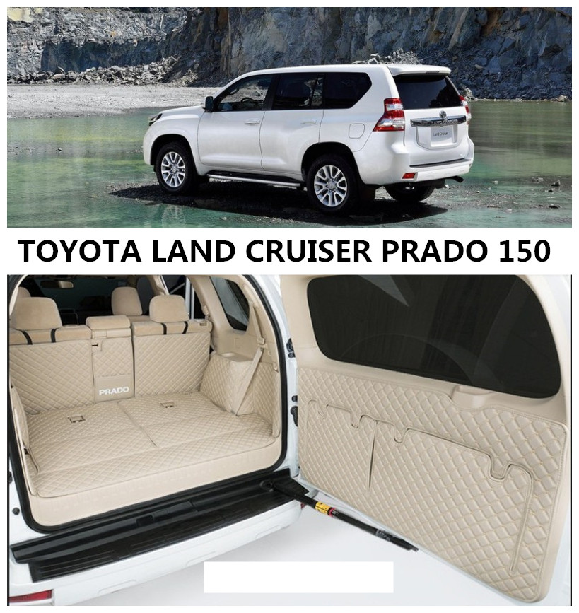 US $102 0 40% OFF|Full Rear Trunk Tray Liner Cargo Mat For For TOYOTA LAND  CRUISER PRADO 150 2010 2019 Floor Protector foot pad High Quality mats on