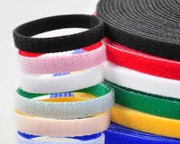 25M Roll 10MM Width Polyester Nylon Strap Power Wire Management Back To Back MAGIC TAPE Cable