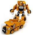 Transformación de ingeniería juguete del coche 2 en 1 de metal de aleación modelo de vehículo de construcción de montaje de camiones coche robot kid toys niños regalos