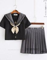 Japan Girls Short Sleeve Jk Sailor Suit Cosplay School Uniforms T Shirt Preppy Style JK Sets School Uniform