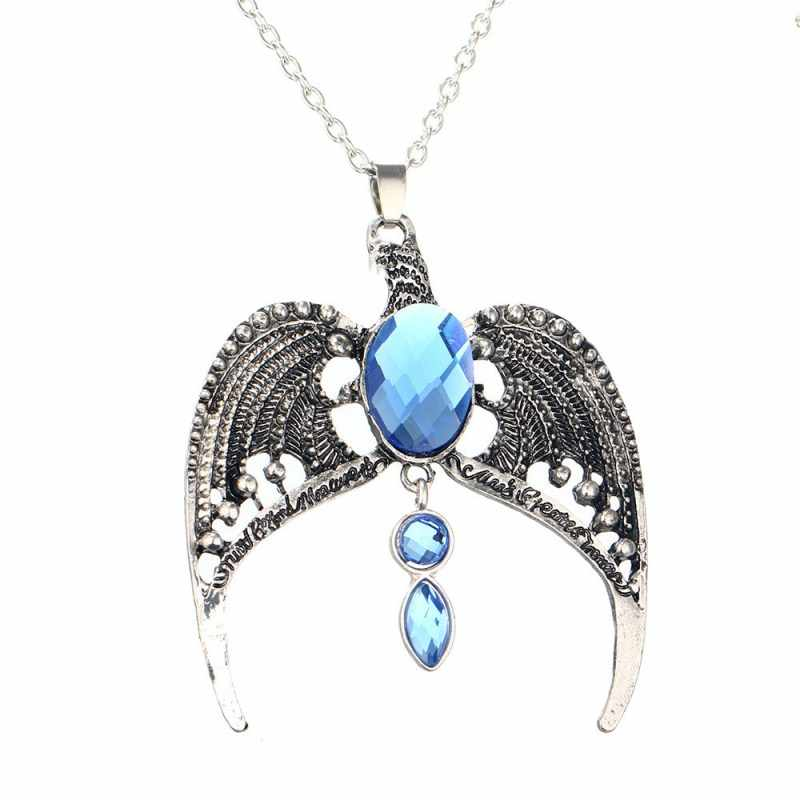 Fashion Jewelry Vintage Charm HP Ravenclaw Eagle Crown Pendant Necklace For Men And Women   4ND150