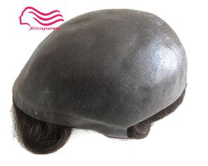 """Durable Thin skin 12-14 , men toupee 8X10"""" V loop / knot , injected hair repacement , Hair prosthesise free shipping(China)"""