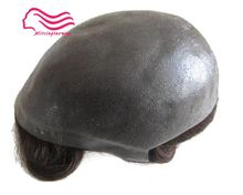"""Durable Thin skin 12-14 , men toupee 8X10""""  V loop / knot , injected  hair repacement  , Hair prosthesise free shipping"""