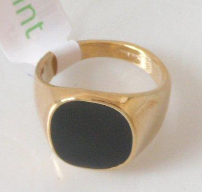 Men s ring Size 8 11 Black yx 18K GP Yellow Gold Men s Ring Free