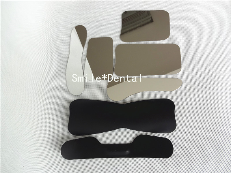 ФОТО 2pcs Dental Oral Photographic Black Background Board+5pcs Stainless Steel Mirror