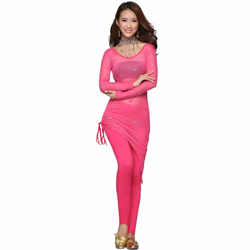 2016 Belly Dancing Women Costume Comfortable Set The New Spring And Summer With Long Sleeved Tulle Skirt Body Leggings Suit