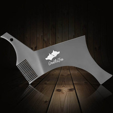 All in one Stainless Steel Beard Shaping and Styling Template Comb Tool 100% Premium Quality Stencil for Mens Beard Shaving