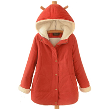 plus size Women Winter Jacket women's Hooded Wadded Coats Outerwear long Female Casual Cashmere Thick Cotton Overcoat Jackets