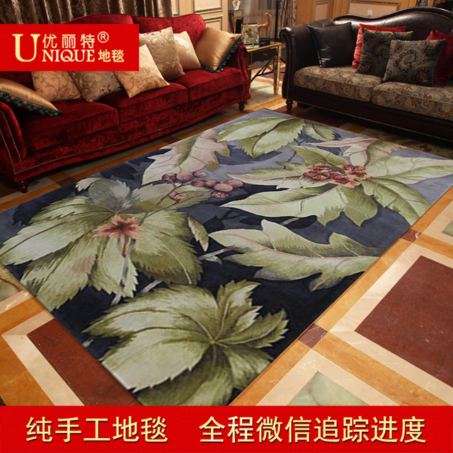Parent Customize Handmade Pure Wool American Rustic High Quality Living Room Carpet