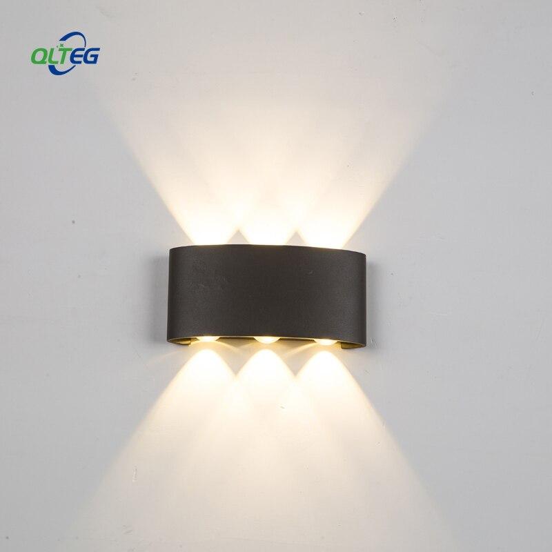 QLTEG LED Wall Lamp Modern Sconce Lamp 6w 12w 18w LED Wall Light Waterproof Stair Light Fixture Bedroom Indoor Lighting Outdoor