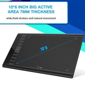 Image 3 - Ugee M708 V2 Digitale Grafiken Tablet für Zeichnung 10x6 Zoll Malerei Pad 8192 Ebene Grafik Tablet mit Batterie freies Stift