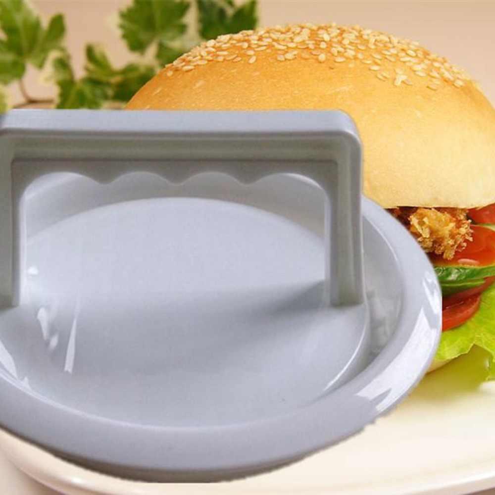 Baru Multifungsi Dapur Memasak Alat Bentuk Bulat Kelas Makanan PP DIY Hamburger Daging Alat Tekan Daging Burger Pembuat Cetakan