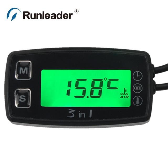 Celsius temperature with voltmeter clock temp sensor for ATV UTV dirtbike moto bike moto cycle snowmobile marine boat waterproof