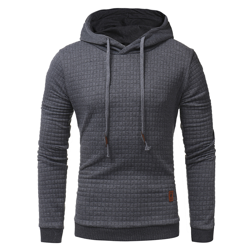 Casual Plaid Hoodies 2018 Men S Unique Korean Fashion Long Sleeve Hoodies High End Leisure Slim