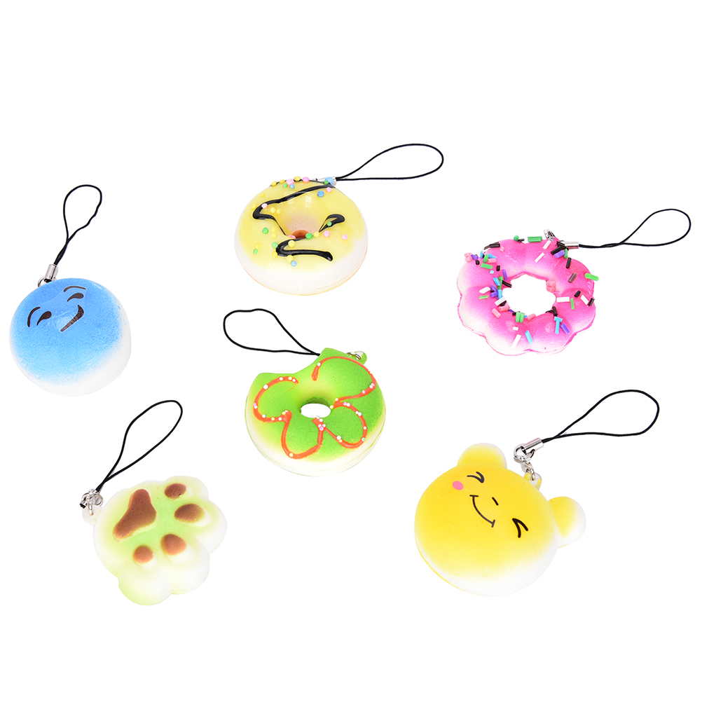 Practical 30pcs Panda Dount Paw Cake Squishy Slow Rising Squeeze Decompress Mochi Stretchy Pendant Straps Bread Bag Parts Accessories Moderate Price Luggage & Bags