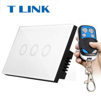 TLINK US Standard Y903A Remote Control Switch 3 Gang 1 Way Smart Wall Switch Wireless Remote