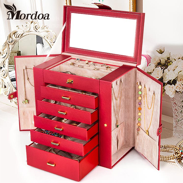 Mordoa High end Rings Jewelry Box Delicate Showcase High end Jewelry