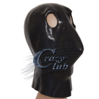 Crazy Club Black Latex Bird Mask Head Halloween Christmas Costume Theater Prop Novelty Rubber Full Face