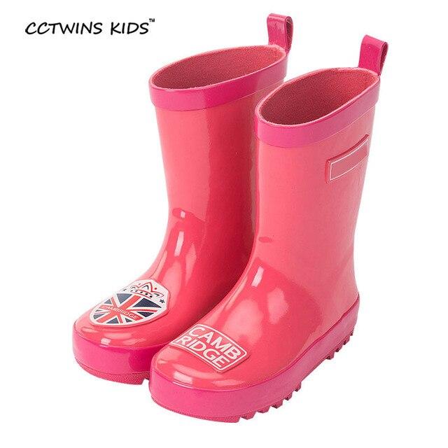 CCTWINS ДЕТИ весна осень baby boy мода дождь загрузки для детская резиновая обувь малыша бренд веллингтон загрузки девушки среднего теленок загрузки