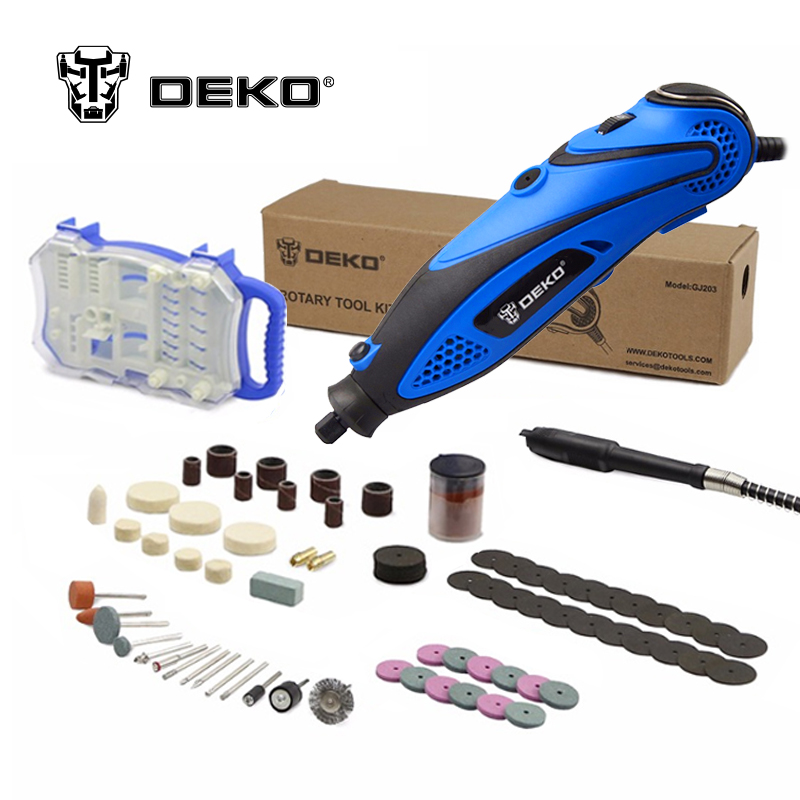 DEKO 220V 135W 32000rpm Variable Speed Rotary Tool Dremel Style Electric Mini Drill w/ Flexible Shaft & 2 Sets for Selection  цены