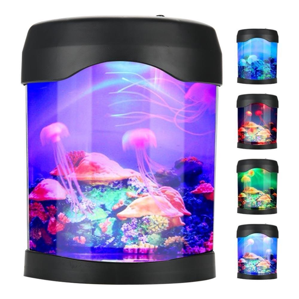 USB Aquarium Light Desk Mini Fish Tank Mood LED Lighting Color Changing Night Lamp Fish Tank Aquarium Accessories Солдат