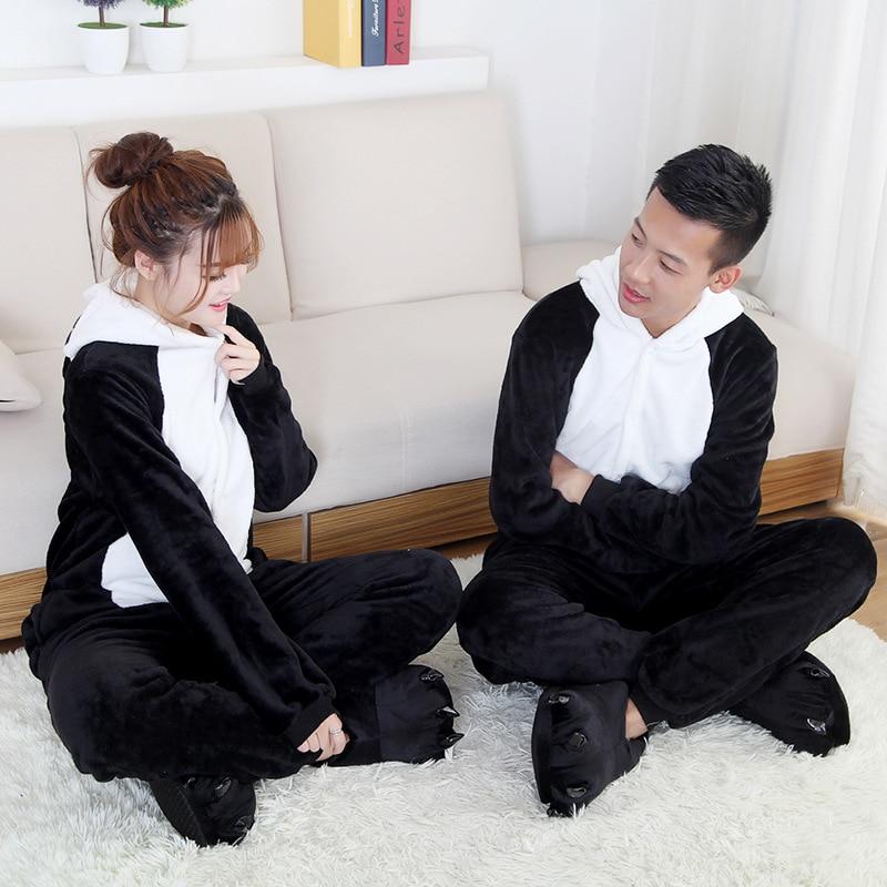 Hot Christmas Men Pajamas Female Pijama Onesie Panda Pyjamas Women Flannel Adults Animal Halloween Cosplay Sleepwear