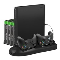 Keten Multifunctional Vertical Stand for Xbox One X with Cooling Fan and Controller Charger Station Game Storage