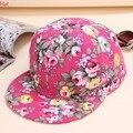 Senhoras boné de beisebol cap chapéu de flores de impressão de algodão mulheres floral caps esportes chapéus snapback chapéu de sol de verão casuais moda sv009084